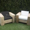 Steigerhout Loungestoel Calpo